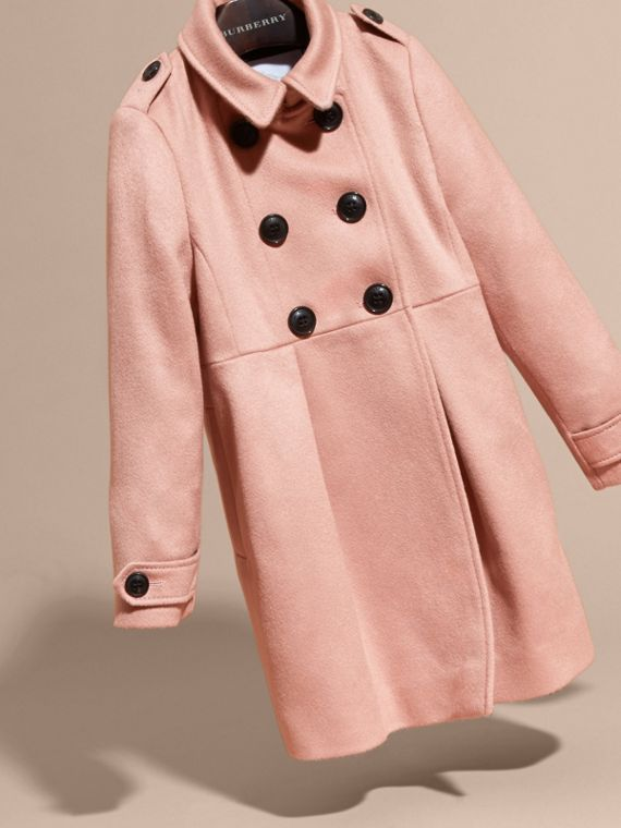Chalk pink Cashmere Military Coat Chalk Pink - cell image 2