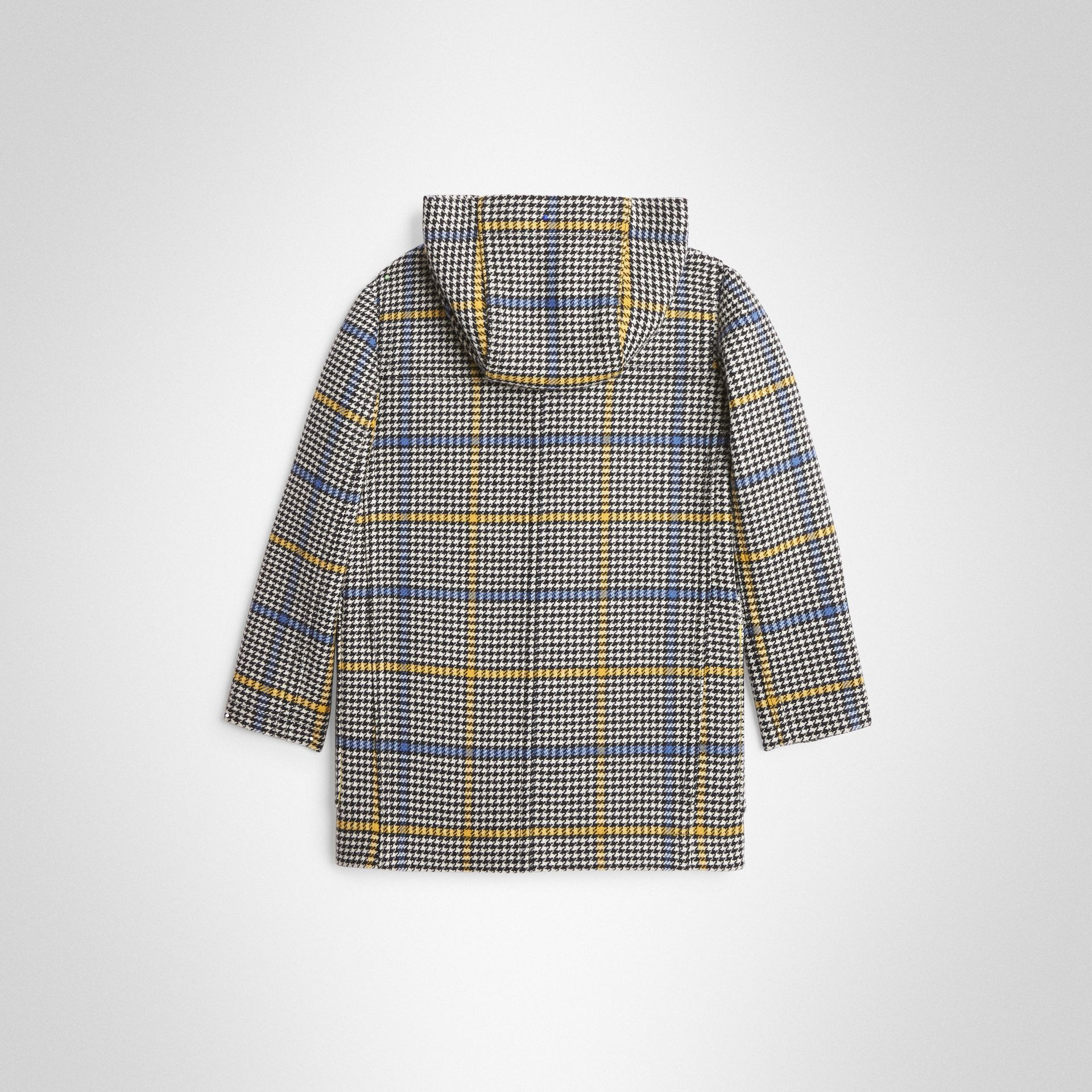 Houndstooth Check Wool Cashmere Duffle Coat in Parchment | Burberry Canada - gallery image 3
