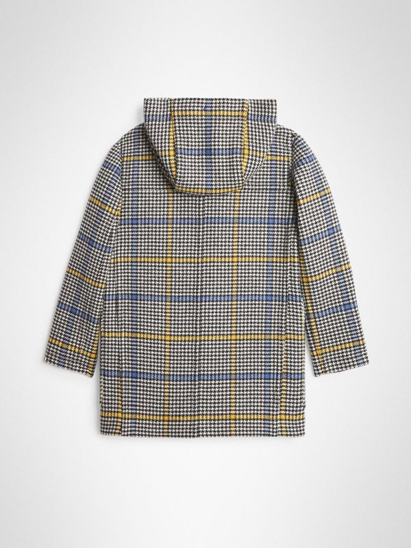 Houndstooth Check Wool Cashmere Duffle Coat in Parchment | Burberry - cell image 3