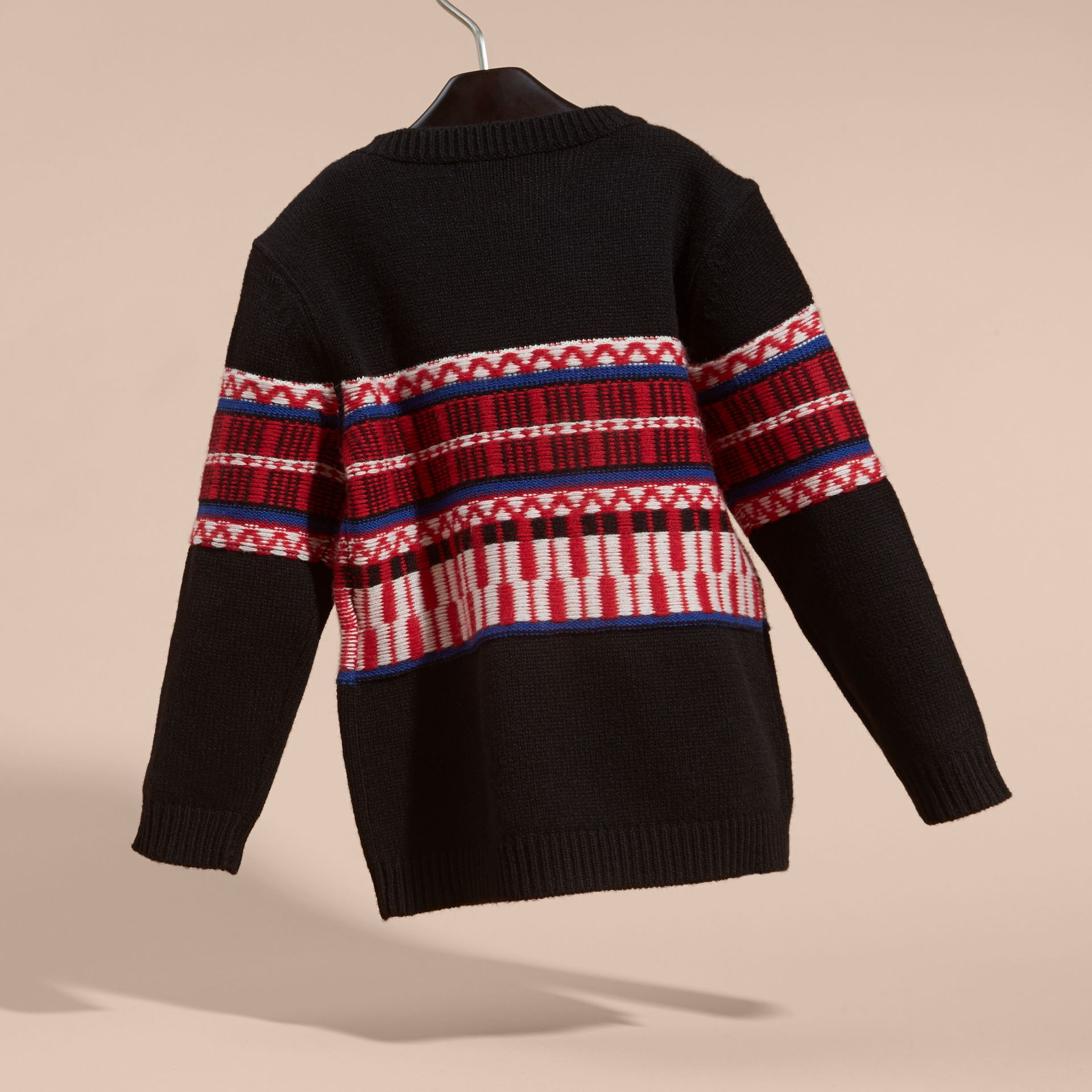 Parade red Fair Isle Wool Cashmere Sweater - gallery image 4