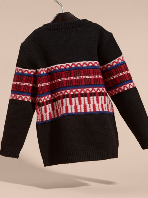 Parade red Fair Isle Wool Cashmere Sweater - cell image 3