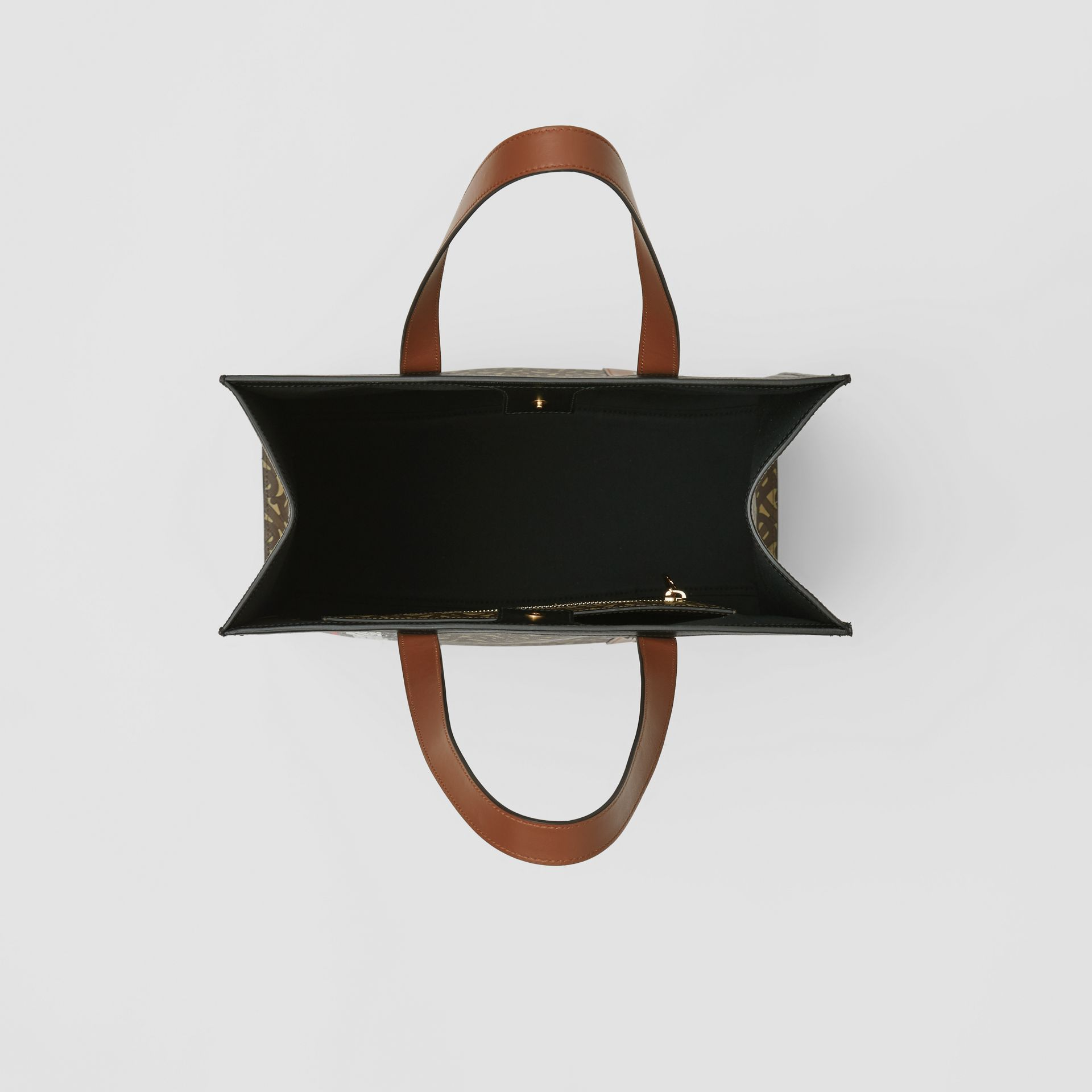 Monogram Stripe E-canvas Portrait Tote Bag in Bridle Brown - Women | Burberry United States - gallery image 5