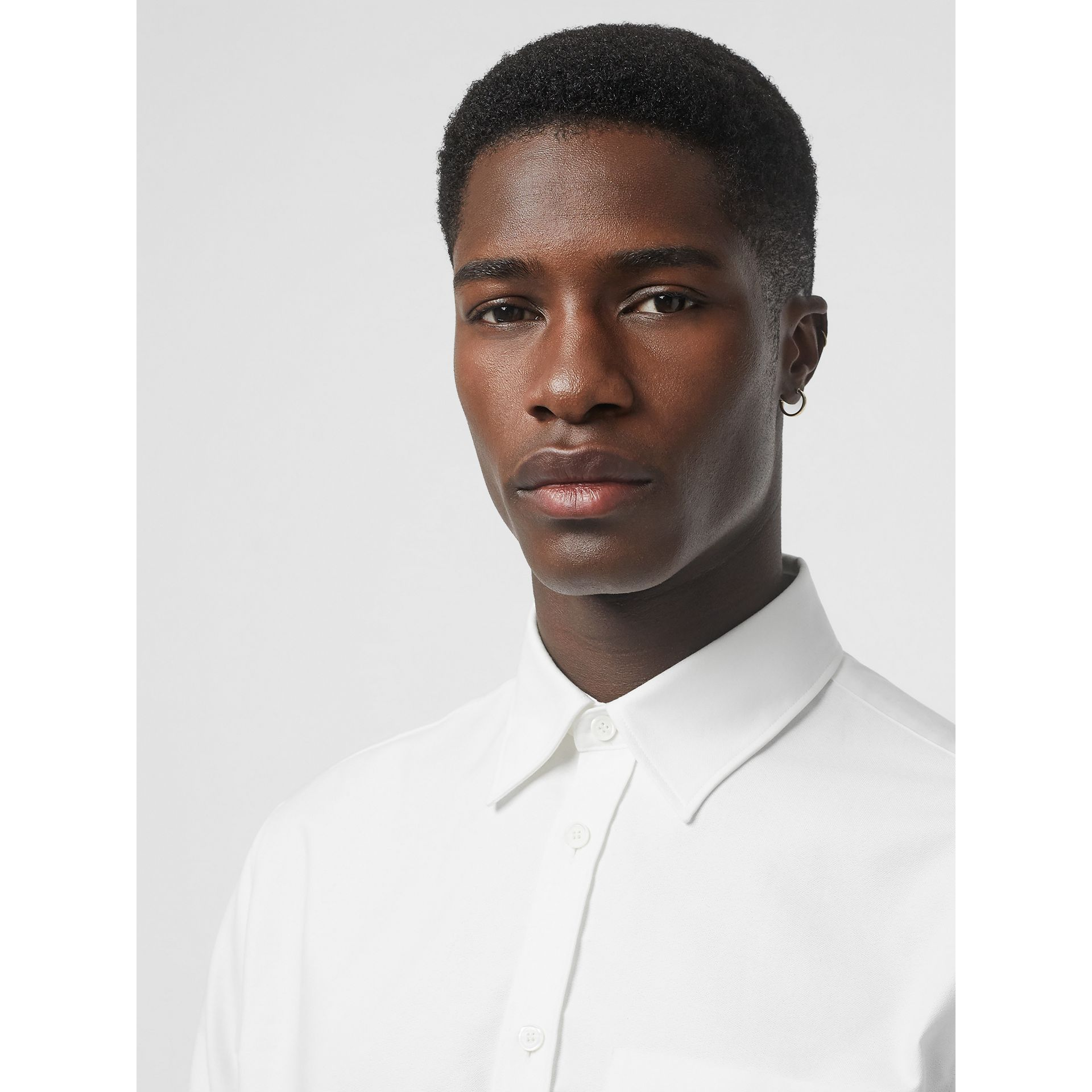EKD Appliqué Cotton Oxford Shirt in White - Men | Burberry Singapore - gallery image 1