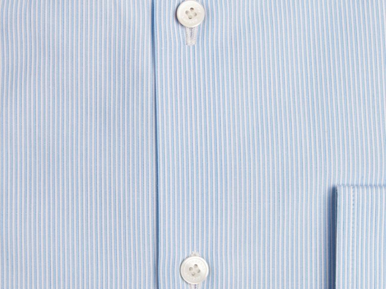 Modern Fit Striped Cotton Poplin Shirt in City Blue - Men | Burberry - cell image 1
