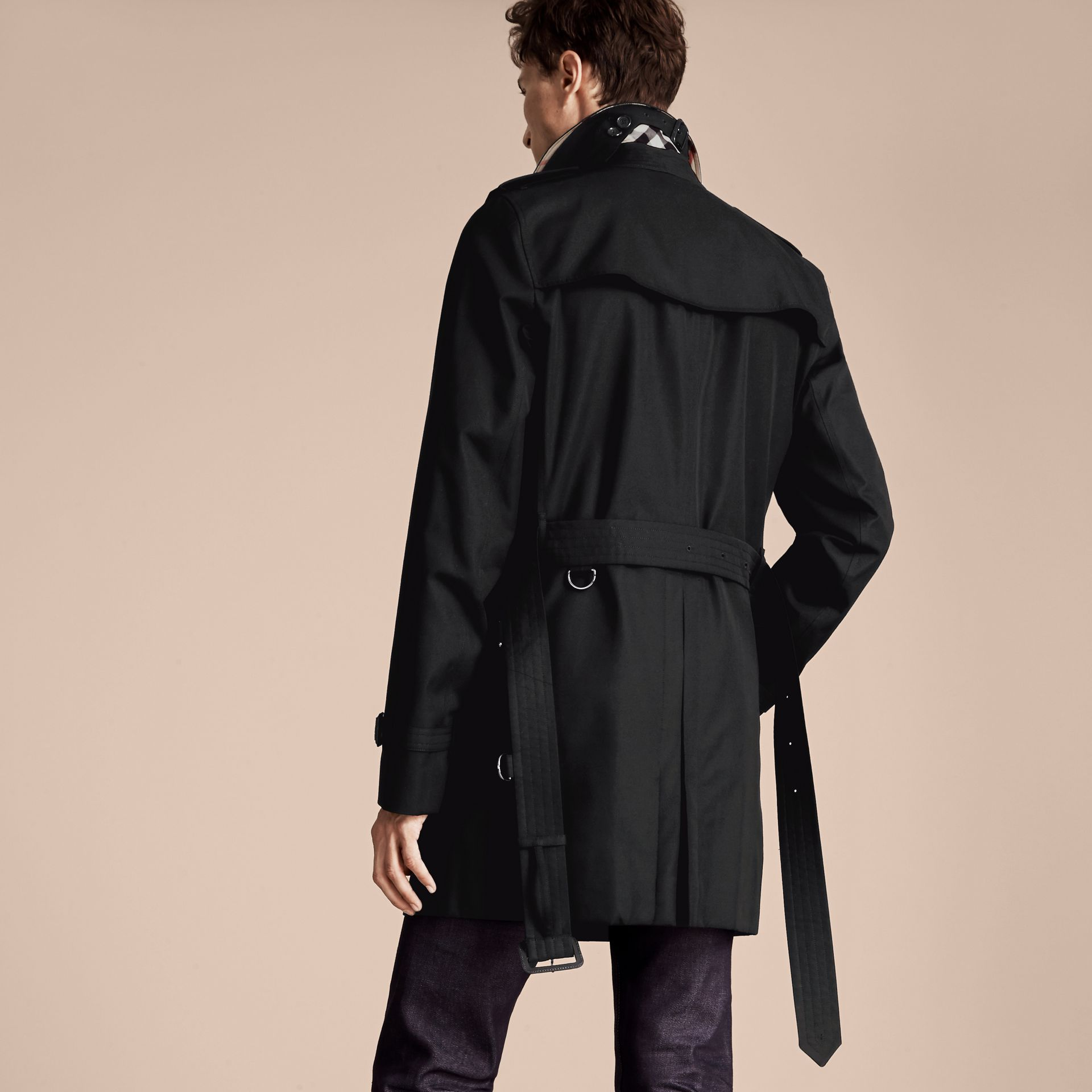 Black The Kensington – Mid-Length Heritage Trench Coat Black - gallery image 3
