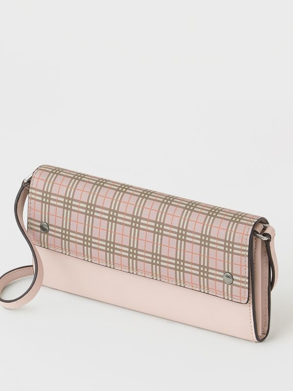 Small Scale Check Wallet with Detachable Strap in Ice Pink - Women | Burberry United States - cell image 2