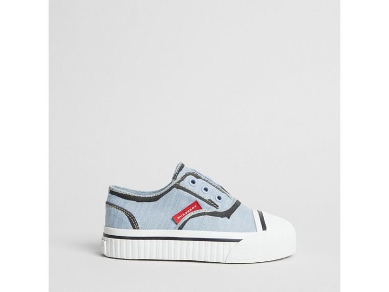 Sneaker senza lacci con segni di pennarello (Blu Chiaro) | Burberry - cell image 2