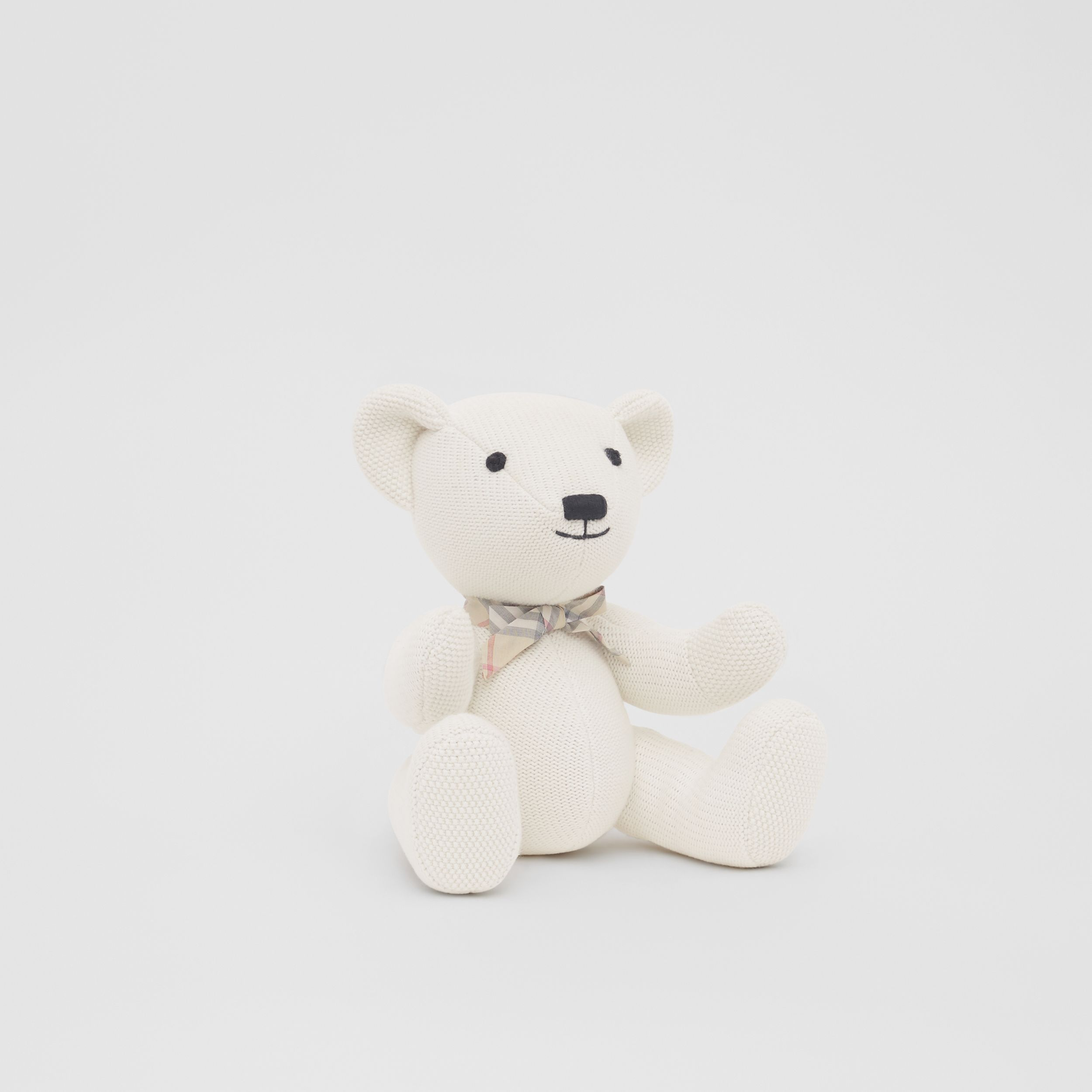 Cotton Cashmere Thomas Bear in Ivory - Children | Burberry United Kingdom - 4