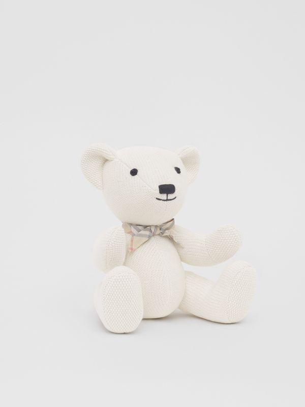 Cotton Cashmere Thomas Bear in Ivory - Children | Burberry - cell image 3