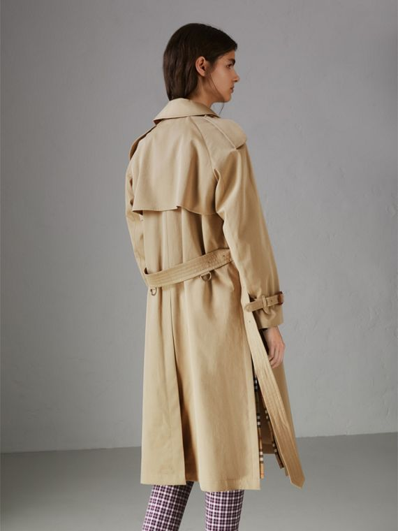 Side-slit Tropical Gabardine Trench Coat in Oatmeal - Women | Burberry United States - cell image 2