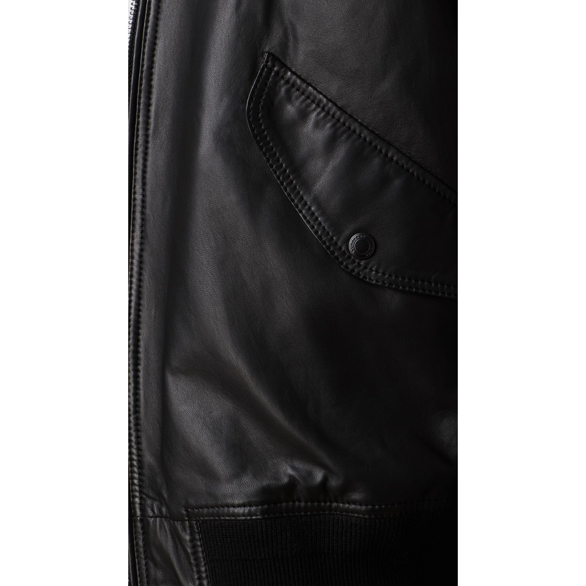 Nappa Leather Bomber Jacket - gallery image 3