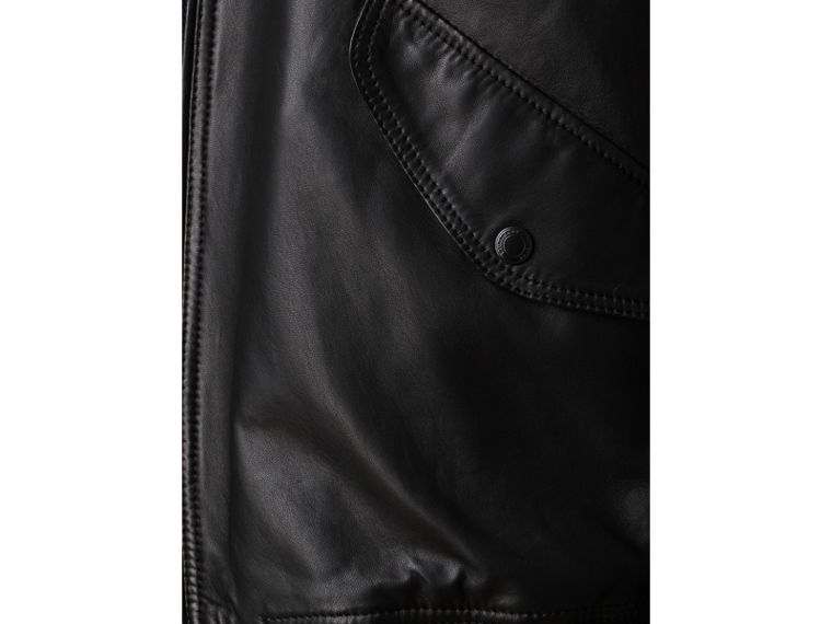 Nappa Leather Bomber Jacket - cell image 2
