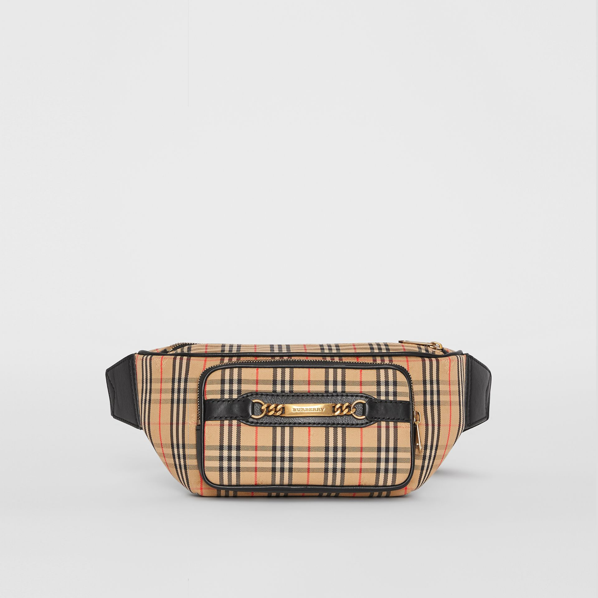 The Large 1983 Check Link Bum Bag in Black - Men | Burberry United Kingdom - gallery image 4