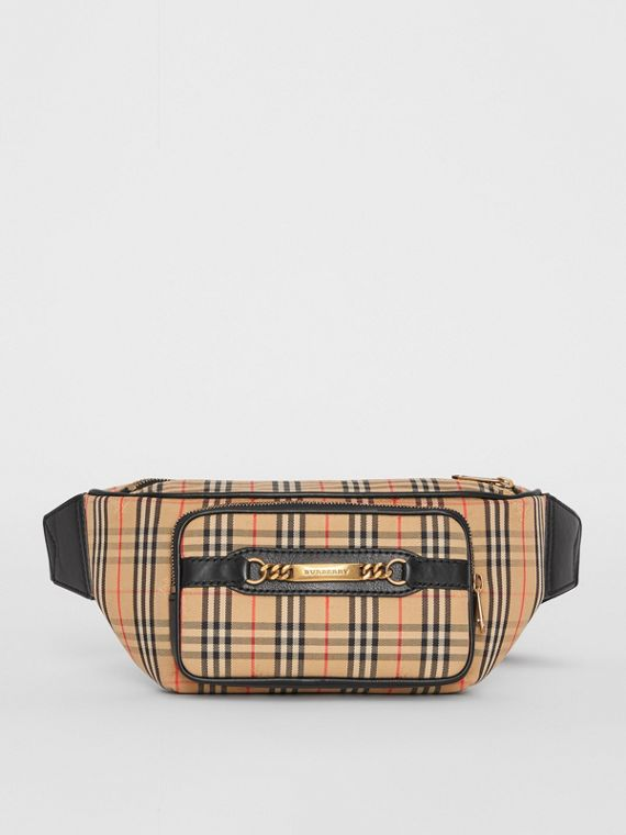 The Large 1983 Check Link Bum Bag in Black