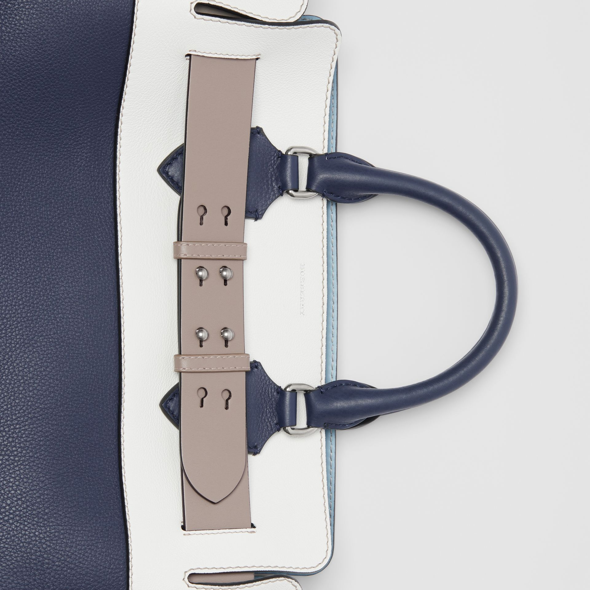 The Medium Tri-tone Leather Belt Bag in Regency Blue - Women | Burberry Singapore - gallery image 1
