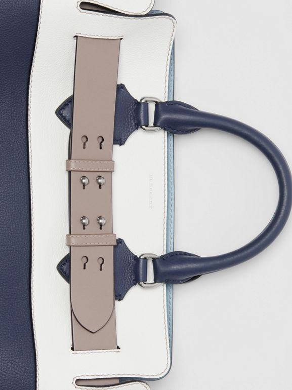 The Medium Tri-tone Leather Belt Bag in Regency Blue - Women | Burberry Singapore - cell image 1