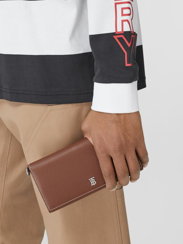 Grainy Leather Wallet with Detachable Strap in Tan | Burberry United States - cell image 3