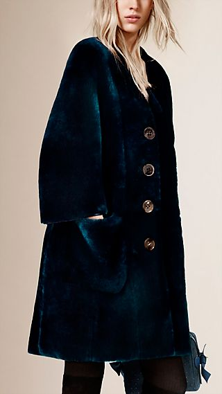 V-Neck Shearling Coat