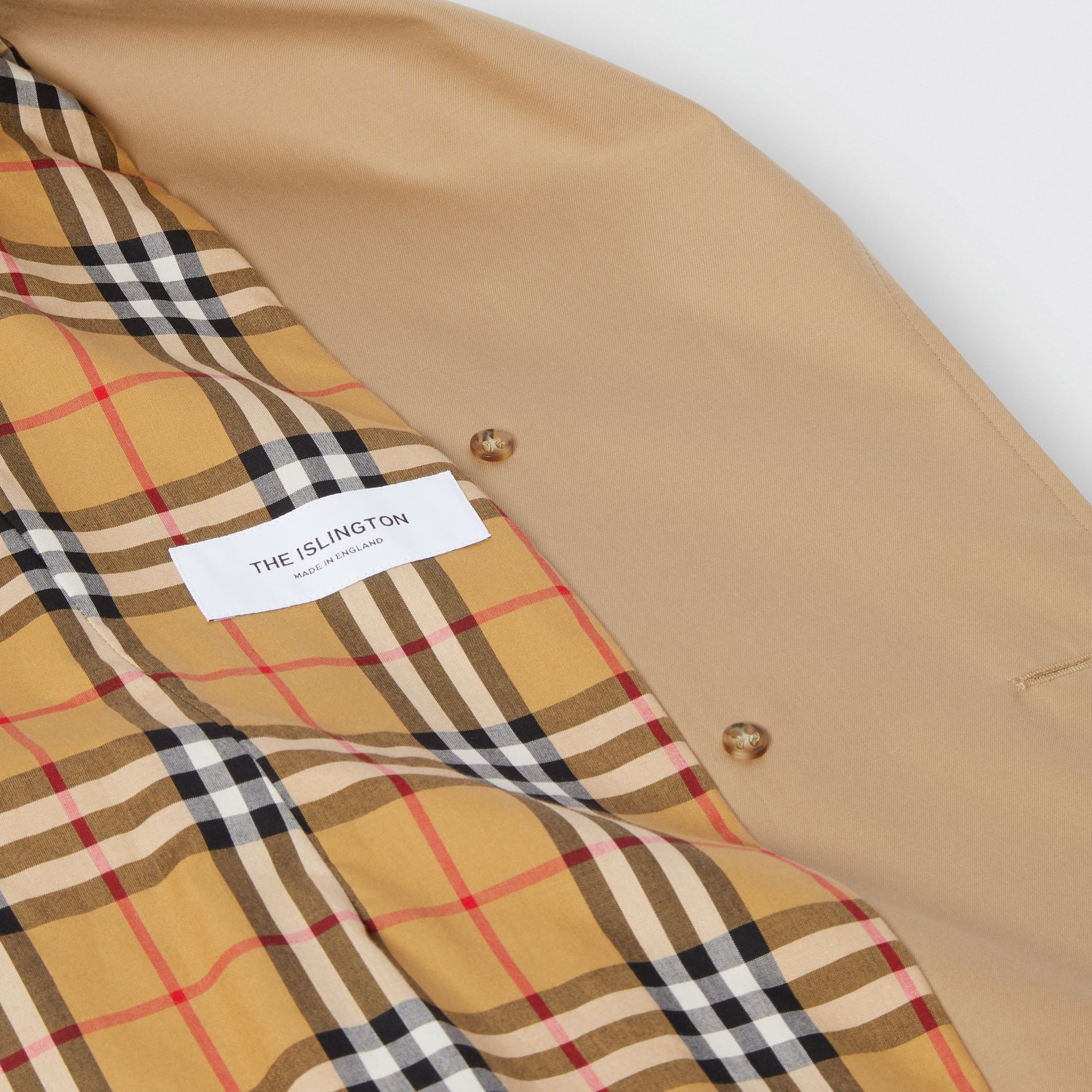 Cotton Gabardine Trench Coat in Biscuit - Women | Burberry - gallery image 7