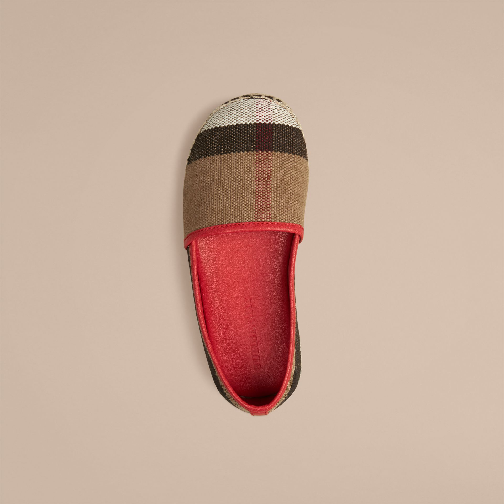Military red Canvas Check Espadrilles Military Red - gallery image 3