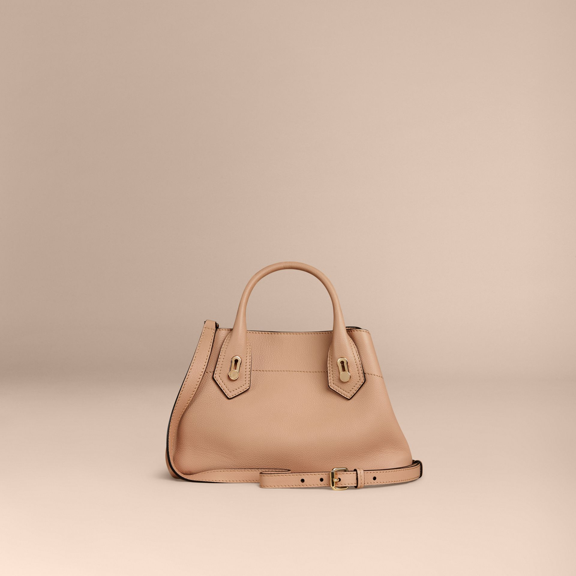 Pale apricot The Small Milton in Grainy Leather Pale Apricot - gallery image 4
