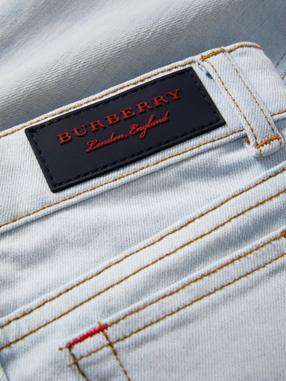 Skinny Fit Stretch Jeans in Light Blue - Boy | Burberry Australia - cell image 1