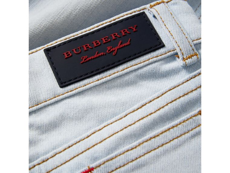 Skinny Fit Stretch Jeans in Light Blue - Boy | Burberry - cell image 1