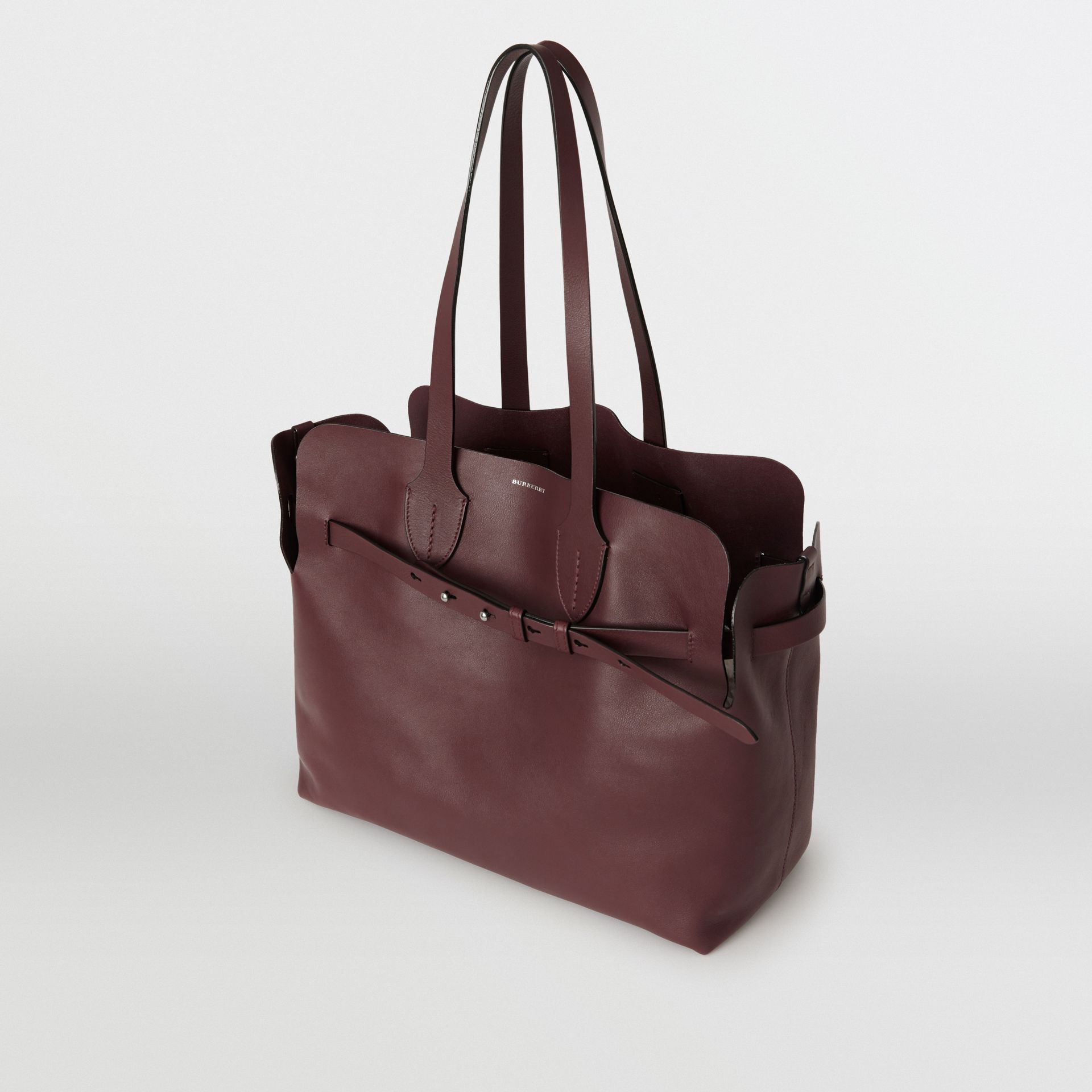 The Medium Soft Leather Belt Bag in Deep Claret - Women | Burberry United Kingdom - gallery image 2