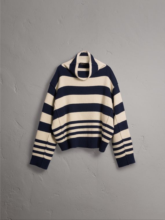 Striped Knitted Cashmere Roll-neck Sweater - Men | Burberry Australia - cell image 3