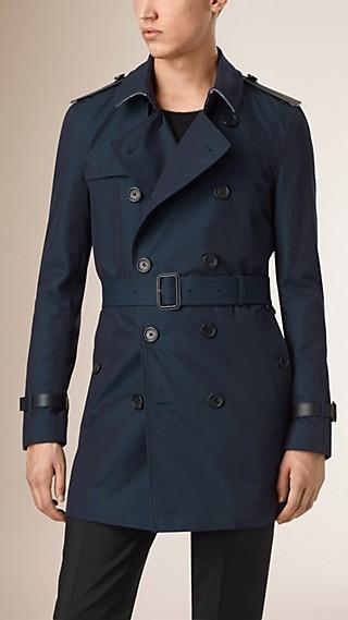 Trench-coat en gabardine de coton avec gilet intérieur