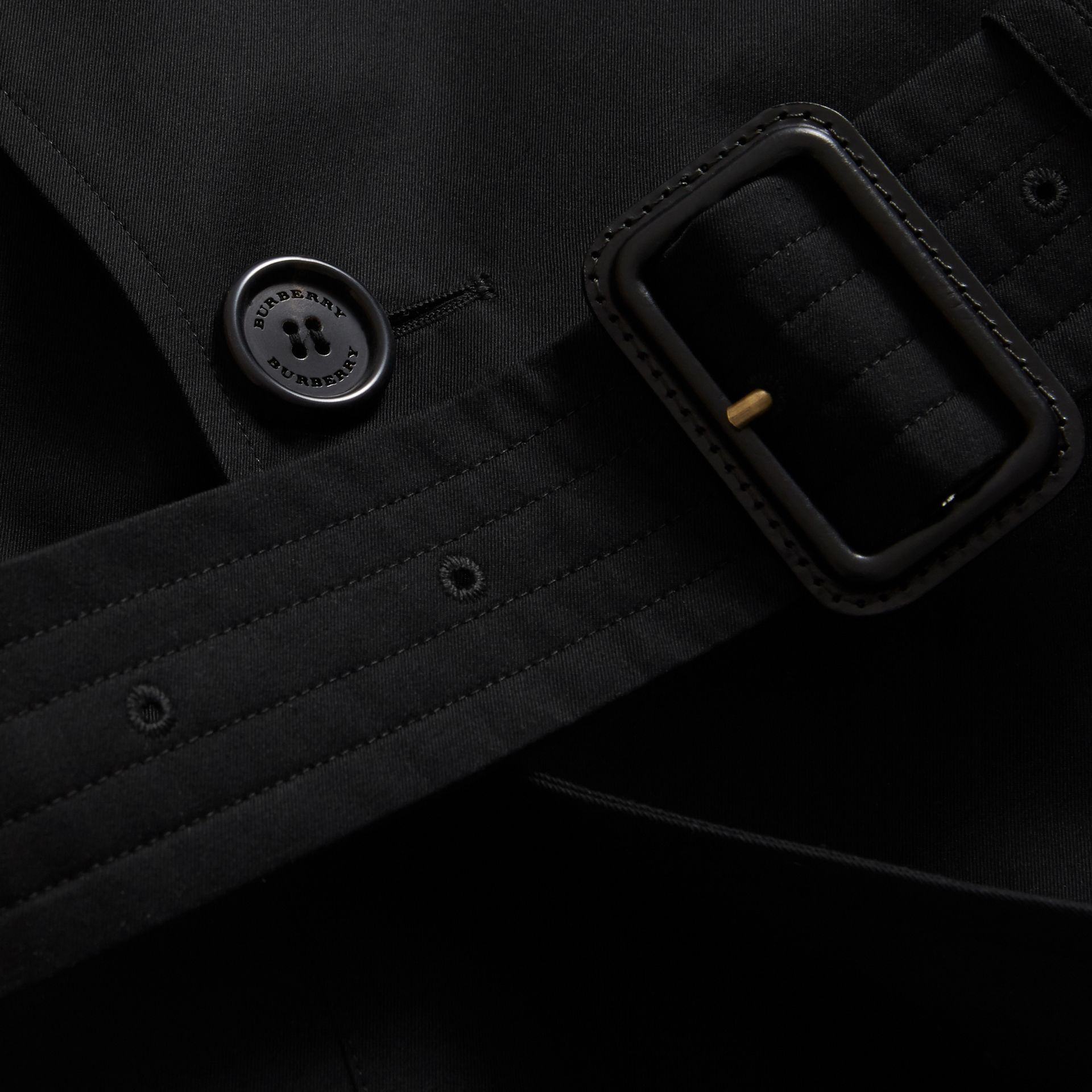 Cotton Gabardine Sculptural Trench Coat in Black - Men | Burberry - gallery image 2