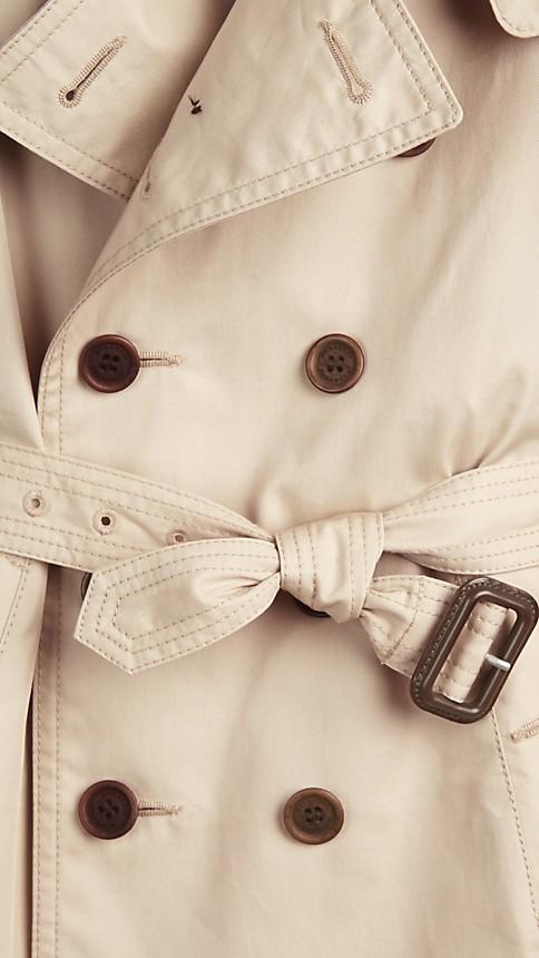 Trench Trench-coat à capuche en sergé de coton - Image 4