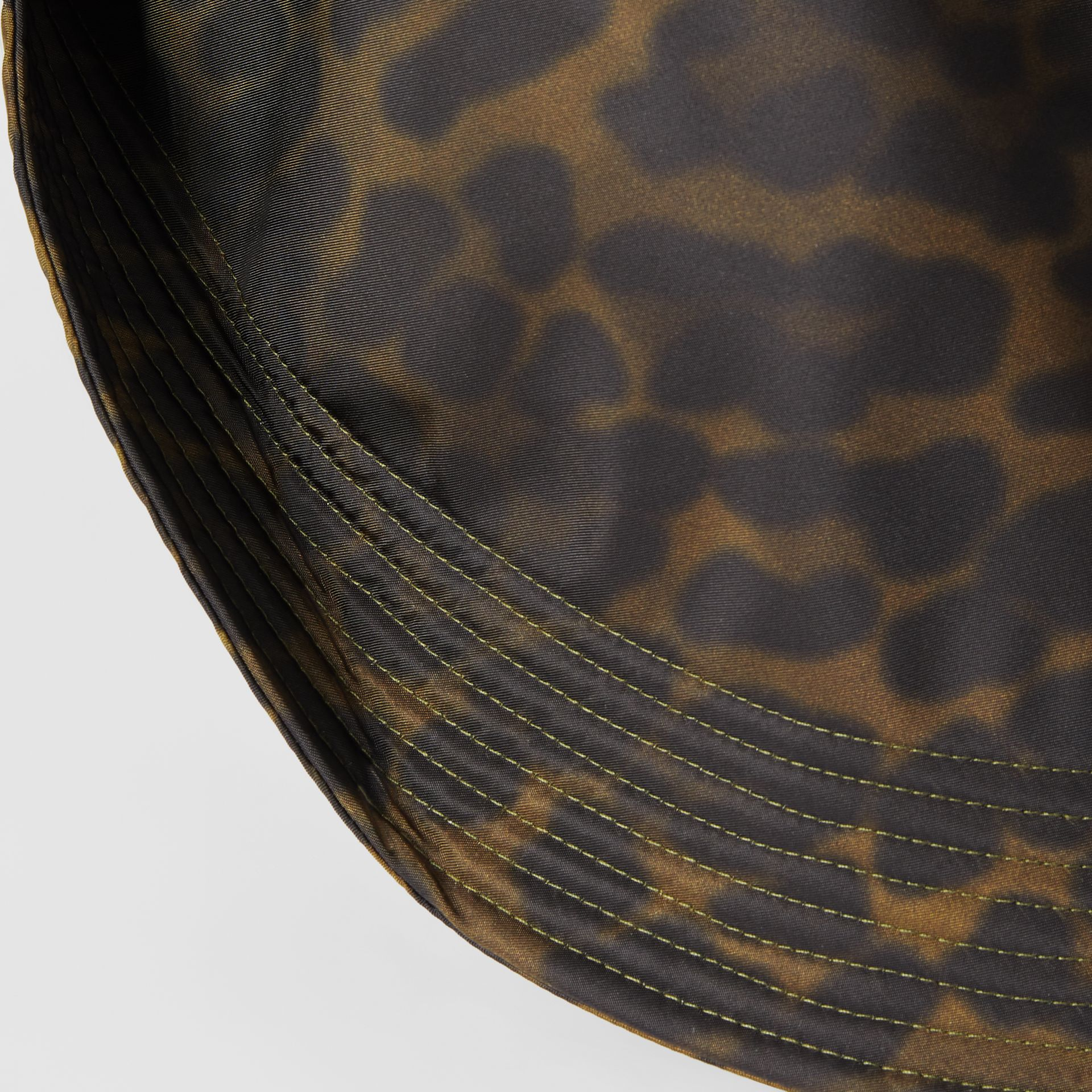 Animal Print Rain Hat in Light Green | Burberry - gallery image 3