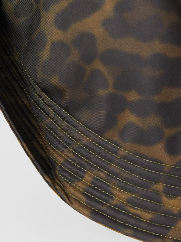 Animal Print Rain Hat in Light Green | Burberry - cell image 3