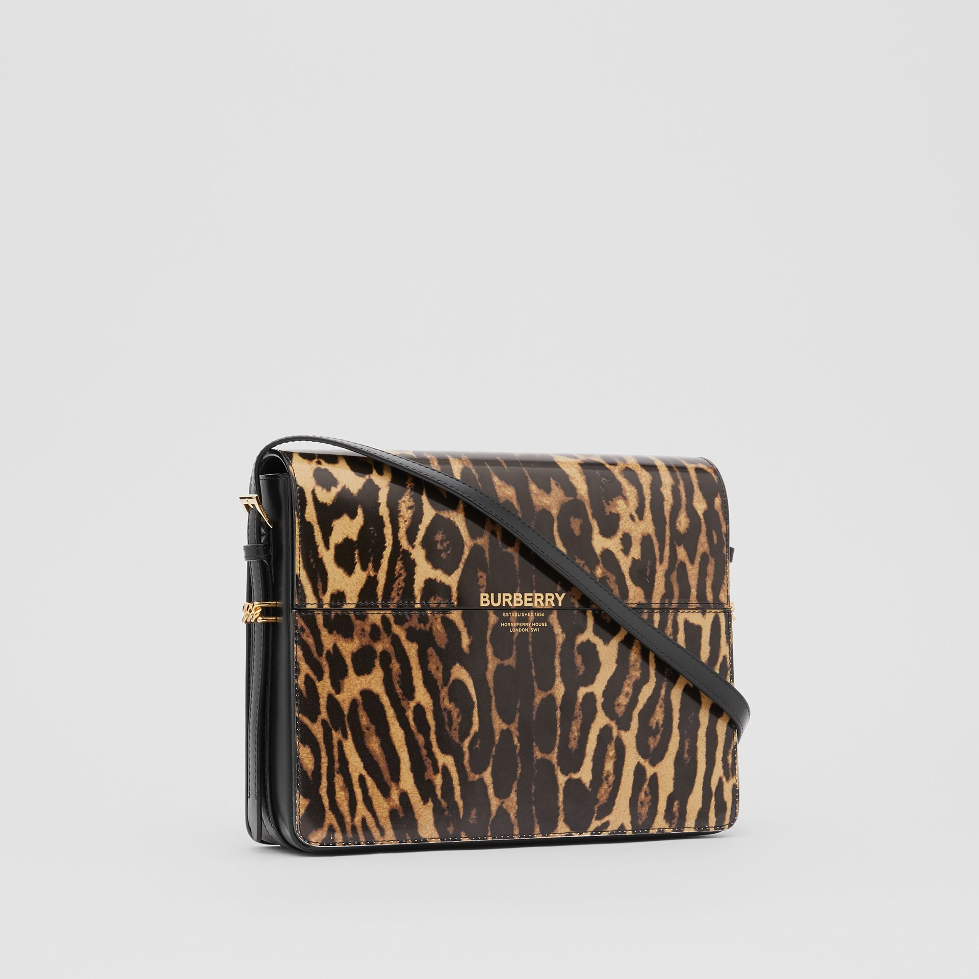 Large Leopard Print Leather Grace Bag in Dark Mustard - Women | Burberry Hong Kong S.A.R - gallery image 6