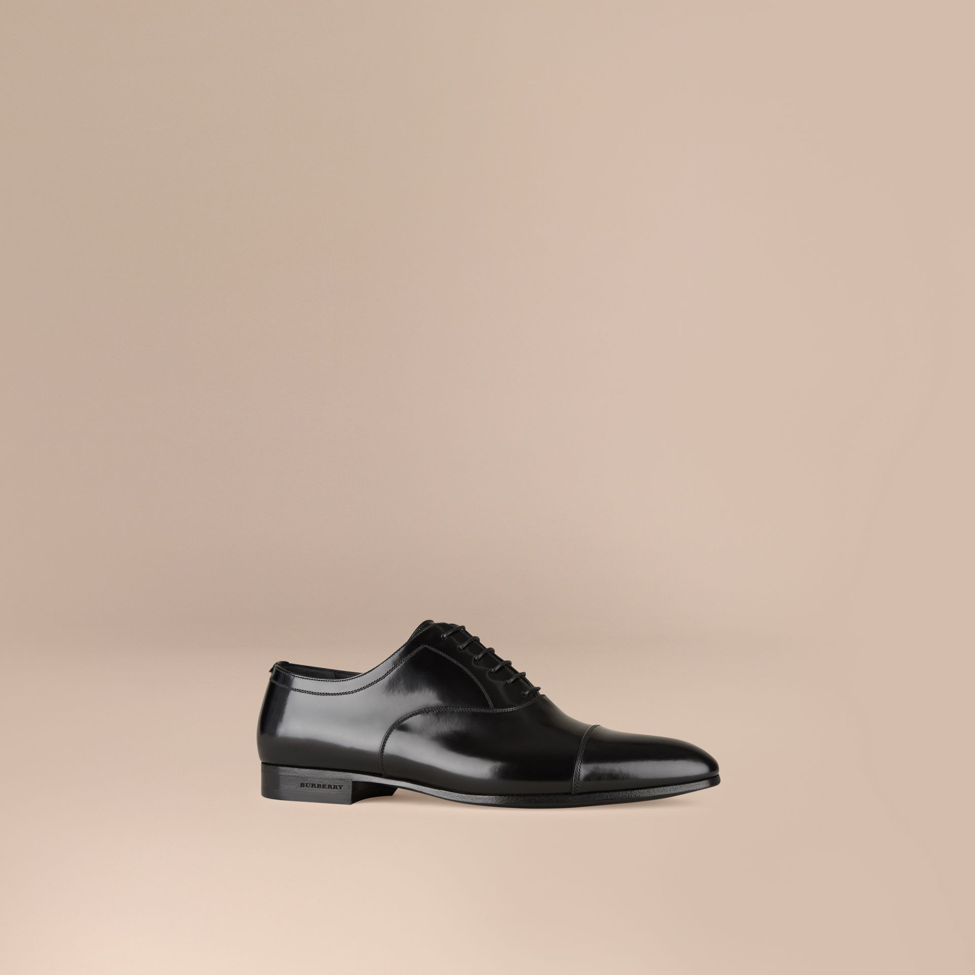Black Classic Leather Oxford Shoes - gallery image 1