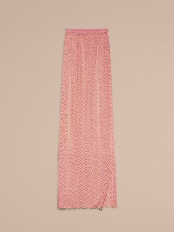 Pale rose Braided Stripe Tulle Column Skirt - cell image 3