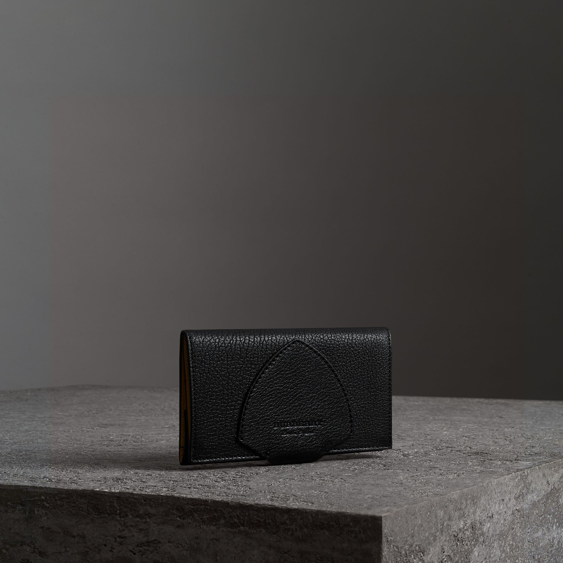 Equestrian Shield Two-tone Leather Continental Wallet in Black - Women | Burberry - gallery image 0