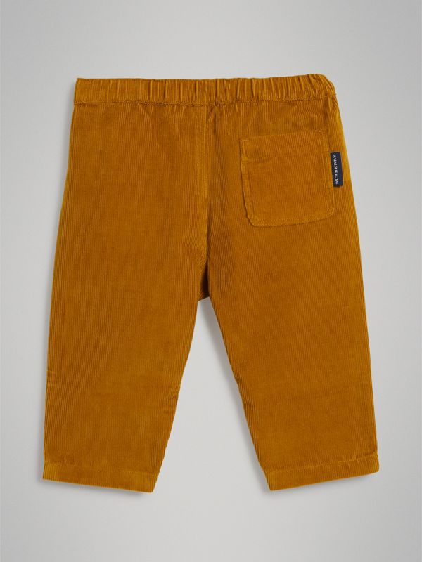 Corduroy Drawcord Trousers in Ochre - Children | Burberry - cell image 3