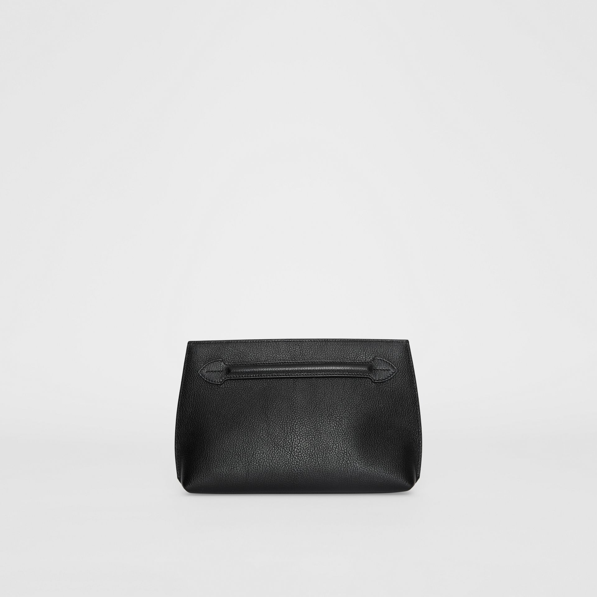 Grainy Leather Wristlet Clutch in Black - Women | Burberry Canada - gallery image 0