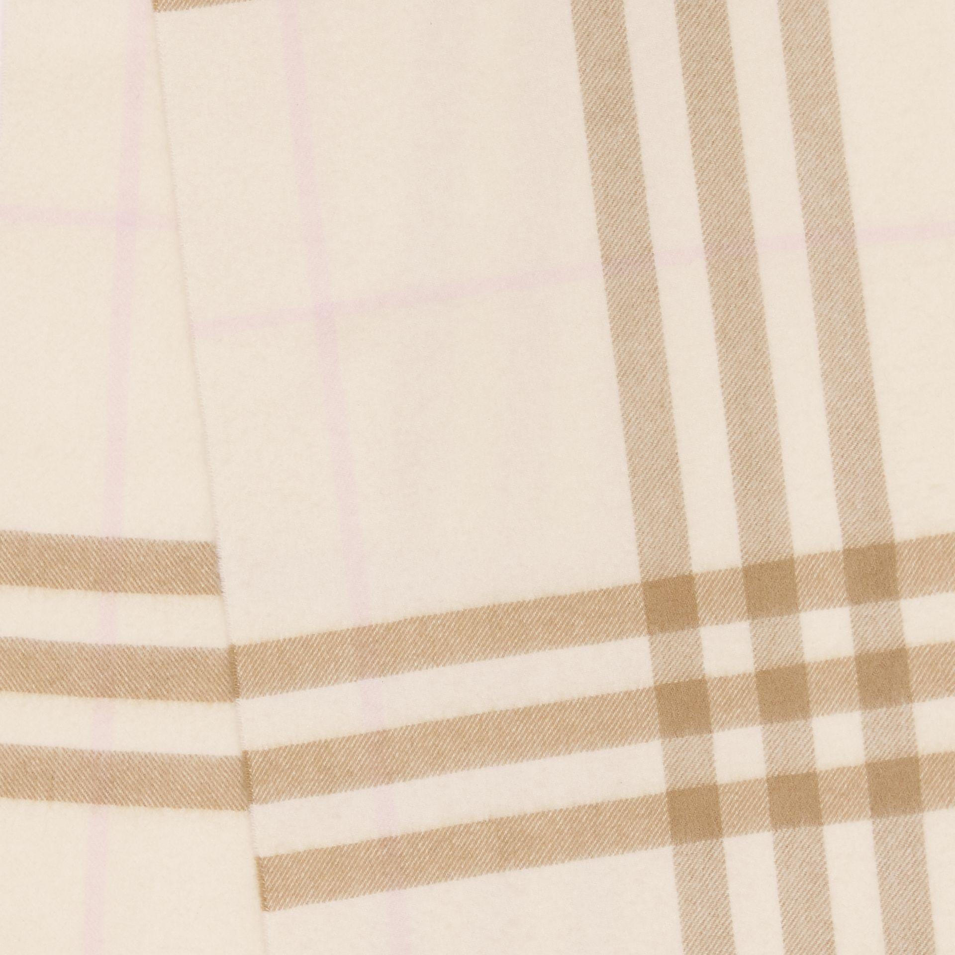 The Classic Check Cashmere Scarf in White/alabaster | Burberry - gallery image 1