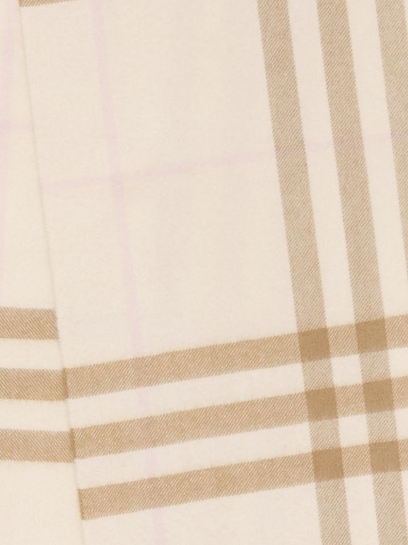 The Classic Check Cashmere Scarf in White/alabaster | Burberry - cell image 1