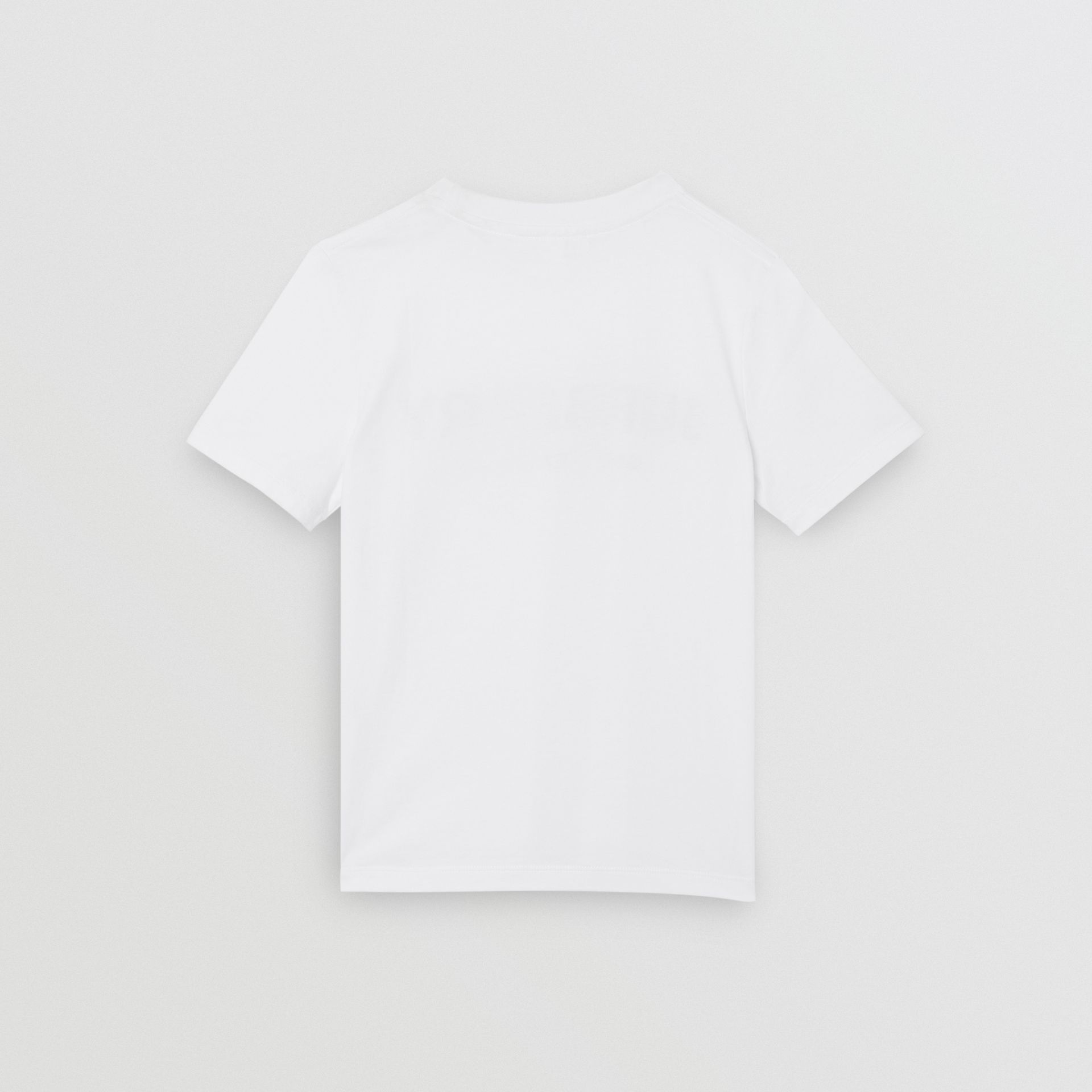 Logo Print Cotton T-shirt in White | Burberry Australia - gallery image 4