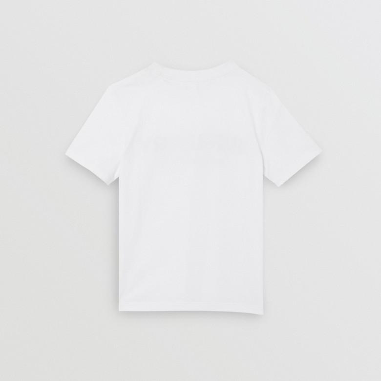 Burberry - T-shirt en coton avec logo imprimé - 6