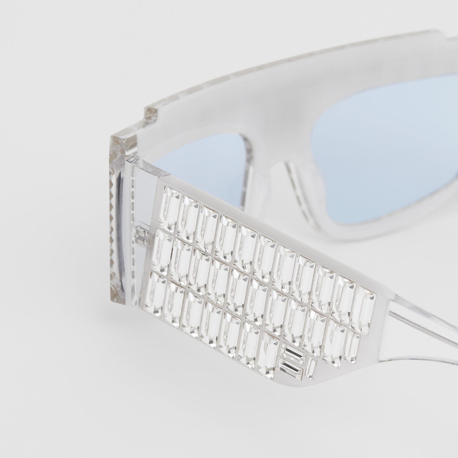 Crystal Rectangular Frame Sunglasses - Women | Burberry - gallery image 4