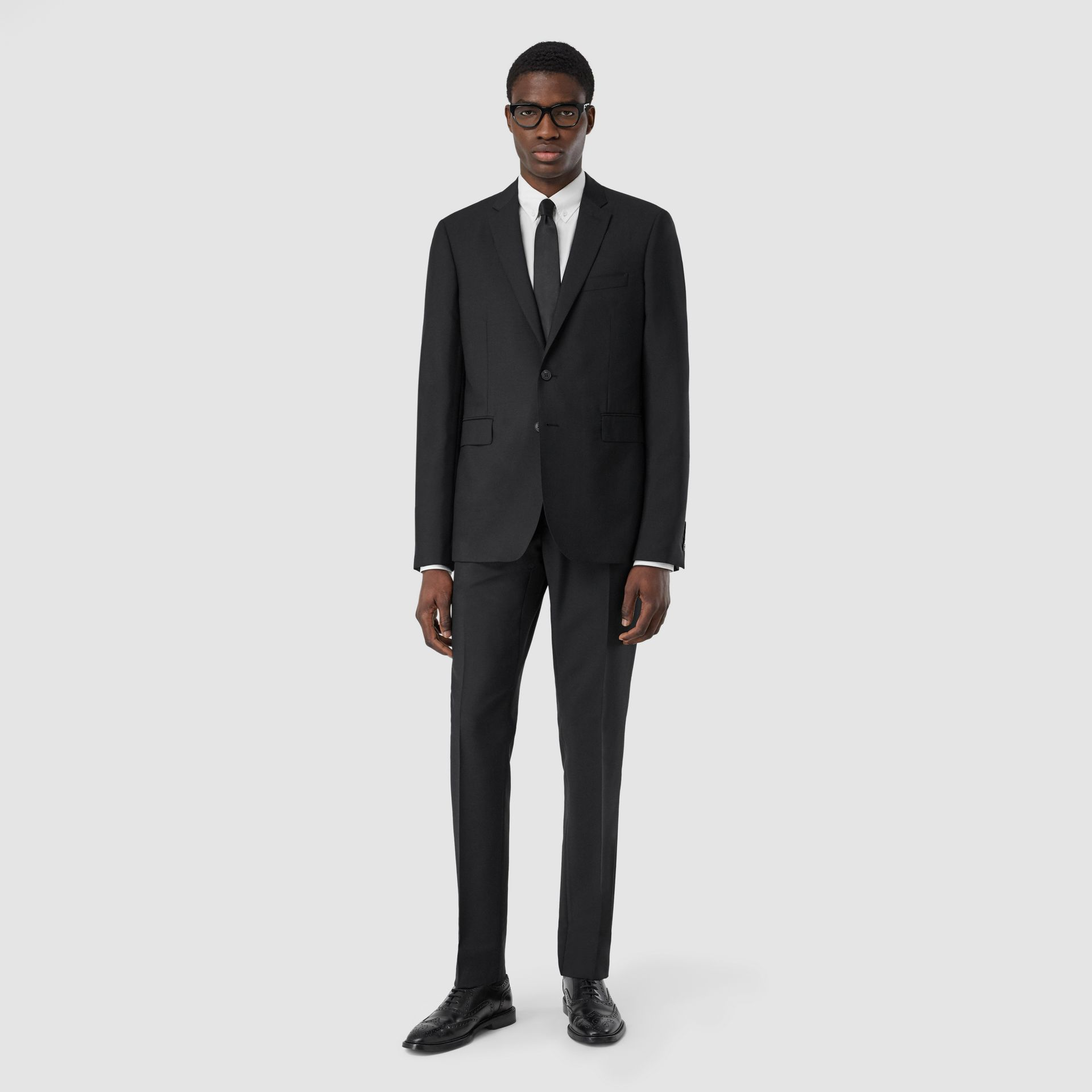 Slim Fit Wool Mohair Suit in Black - Men | Burberry Hong Kong S.A.R - gallery image 0