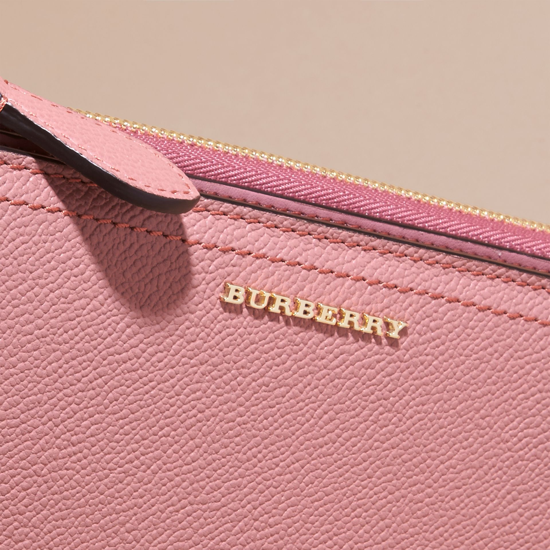 Dusty pink Grainy Leather Ziparound Wallet Dusty Pink - gallery image 2