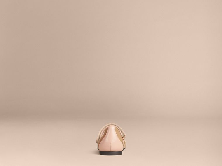 Nude blush Belt Detail House Check Ballerinas - cell image 1
