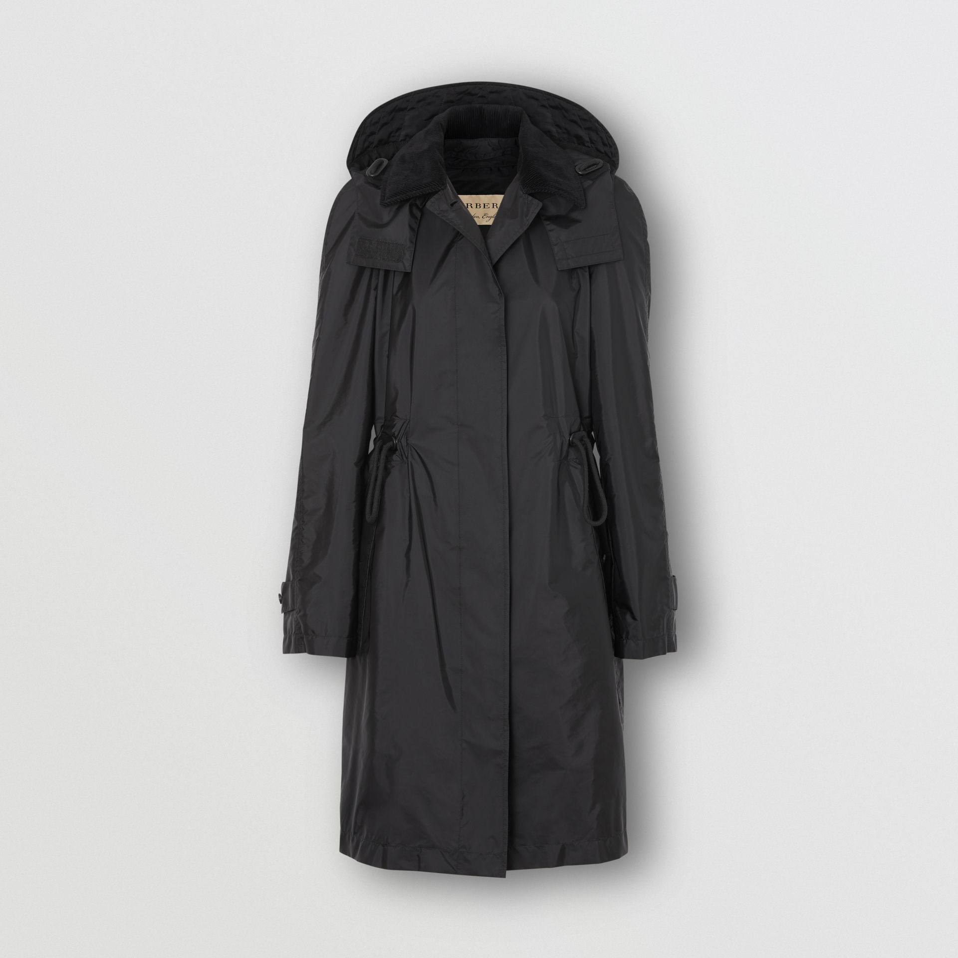 Detachable Hood Taffeta Parka in Black - Women | Burberry Australia - gallery image 3