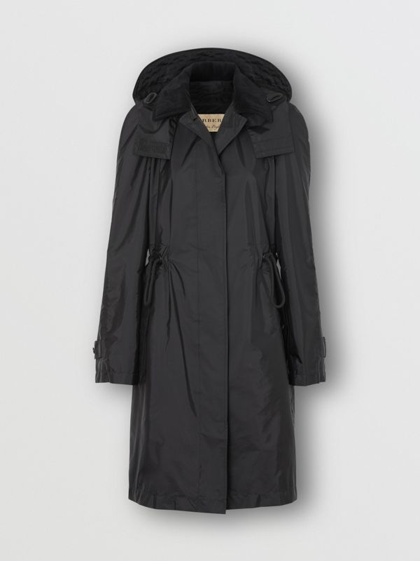 Detachable Hood Taffeta Parka in Black - Women | Burberry - cell image 3